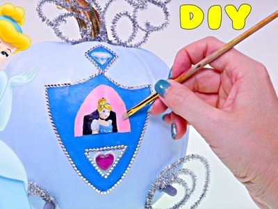 Making Disney Princess Cinderella Carriage out of a Pumpkin | DIY Crafts for Kids with DCTC