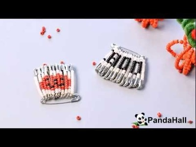 Pandahall Video Tutorial on How to Make Simple DIY Safety Pin Brooch with Seed Beads