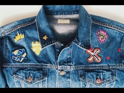 Pins + Patches: How to DIY Your Own Denim Jacket - Disney Descendants & 90s Nickelodeon Themed