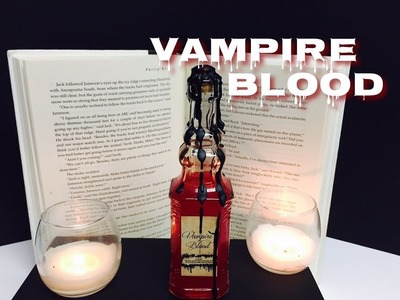 Vampire Blood : DIY Potion Bottle : Halloween Prop ( Harry Potter Inspired )