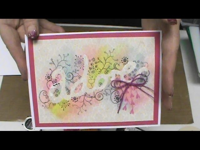 #174 How to Emboss, Stmap & Color Stencils with a Big Shot & Gelatos by Scrapbooking Made Simple