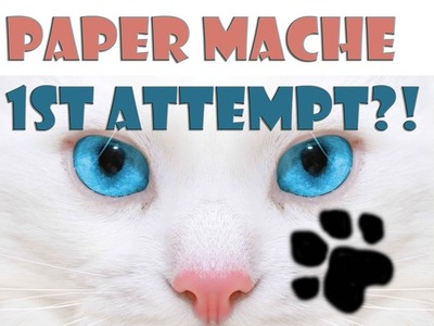 CONGRATS! IT'S A CAT (My 1st Paper Mache)