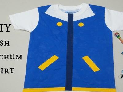 DIY Ash Ketchum Shirt - No Sewing Needed!