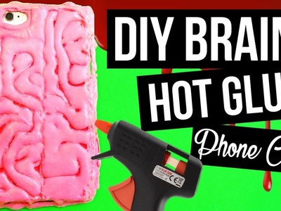 DIY Brain Phone Case Made of Hot Glue ❤ Creepy Halloween Crafts