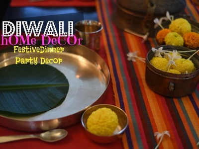 DIY Diwali Home Decor : Diwali Dinner Table Setting