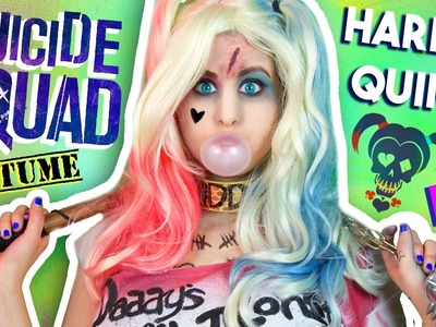 "DIY Harley Quinn ""Suicide Squad"" Makeup, Wig & Costume | Last Minute Costume Idea!"