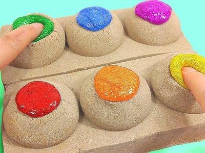 DIY How To Make Glitter Slime Kinetic Sand Poop Toy | Jingle Bells Christmas Nursery Rhymes Songs