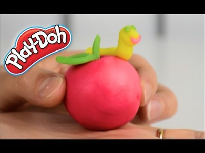 DIY How to Make Play Doh Apple - Playdough DIY