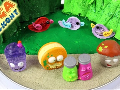 DIY - How to make the Grossery Gangs Island?- Play-Doh & The Grossery Gang & Kinetic Sand