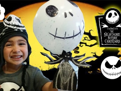 DIY JACK SKELLINGTON NIGHTMARE BEFORE CHRISTMAS BALLOON EXPERIMENT FOR KIDS