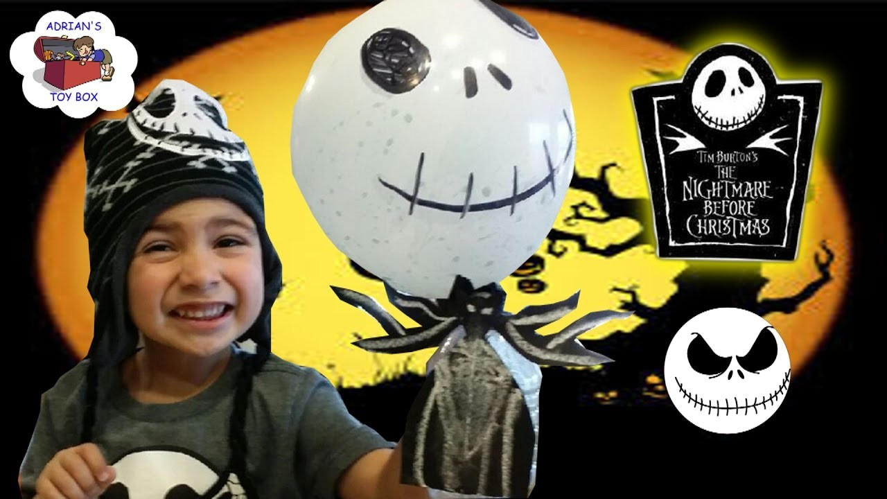 DIY JACK SKELLINGTON NIGHTMARE BEFORE CHRISTMAS BALLOON EXPERIMENT ...