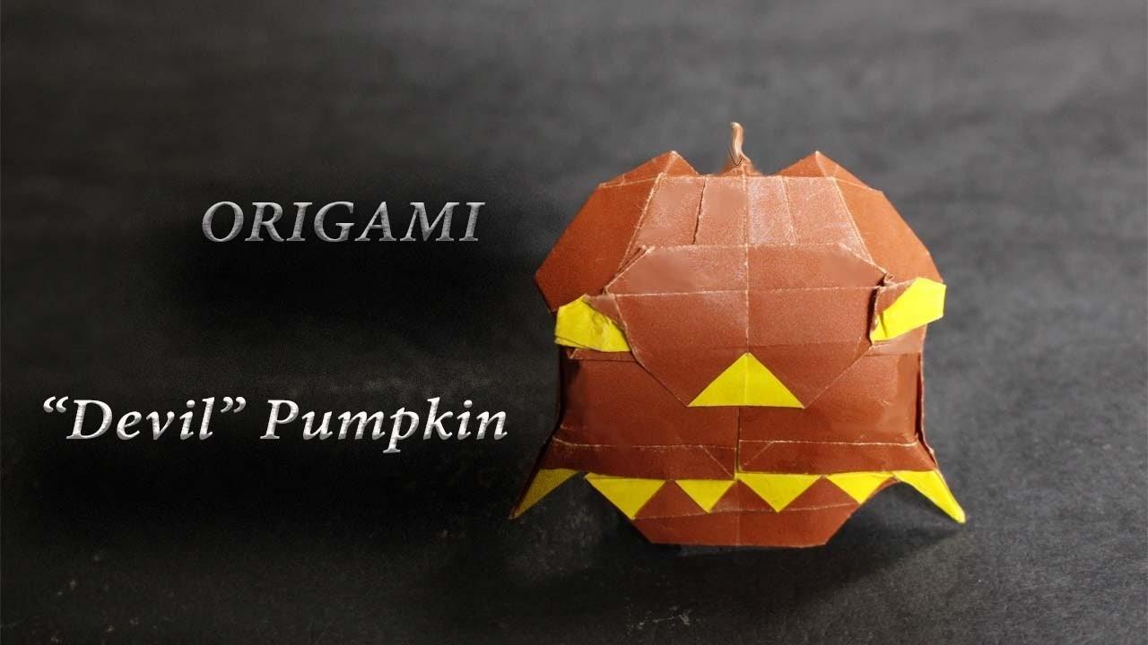 DIY Origami Pumpkin - Easy for Hallowen
