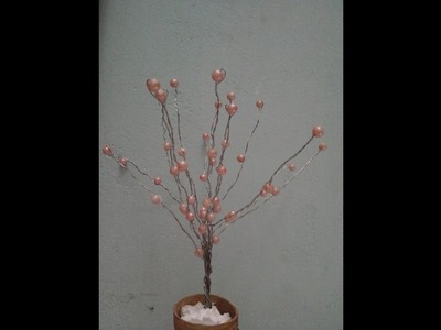 DIY Pearl wire tree