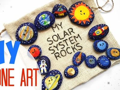 DIY STONE ART SCIENCE Solar System for KIDS - Organic Toy Project