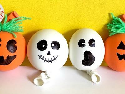 DIY Stress Balls for Halloween - Pumpkin Stress Ball - Ghost DIY - (Sensory toy)
