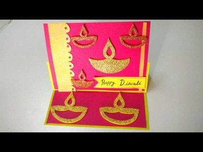 Easy Diwali Easel Card Making Idea | How To | CraftLas