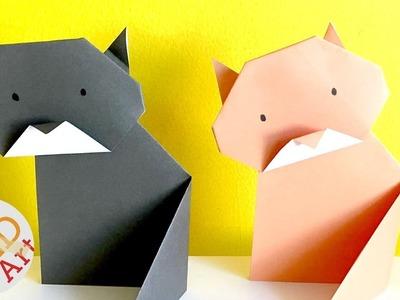 Easy Origami Cat - Paper DIYs