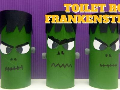 Halloween Crafts - Toilet Paper Roll Frankenstein - Toilet Paper Roll Craft
