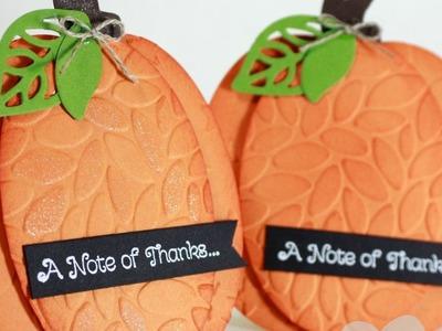 How To Create a Pumpkin Shape Card feat. Oval Framelits