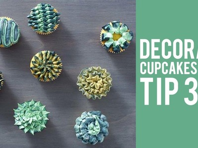 How to Decorate Cupcakes with Tip 366 – 8 WAYS!
