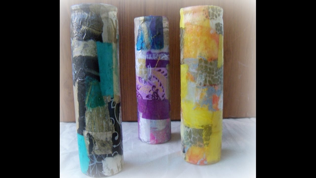 How to decoupage a glass candle holder. DIY Decoupage glass holder