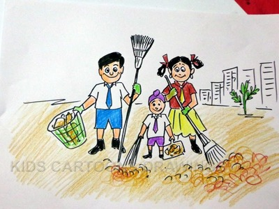 How to Draw Clean India Drawing for Kids Step by Step