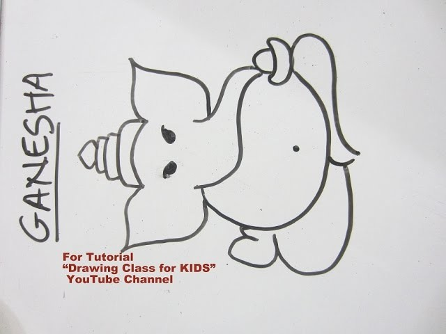 How To Draw Easy Lord Ganpati Ganesha Step By Step Tutorial For Kids