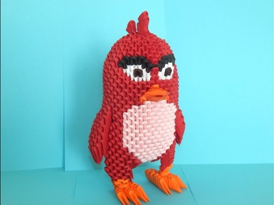 How to make 3d origami Angry Bird Red part 2
