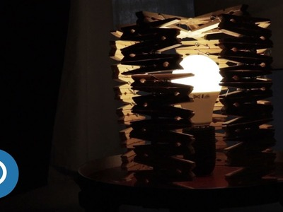 How to make a DIY lamp with clothespins
