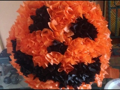 How to Make a Halloween Piñata; Step by Step Directions-Easy & Fun!