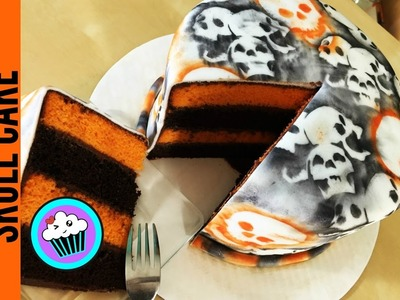 How to make a Halloween Skull Cake | Pinch of Luck