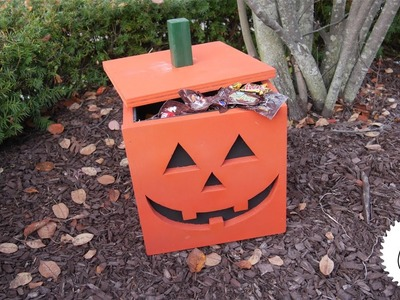 How to Make a Jack-O-Lantern Candy Holder | Halloween Project!