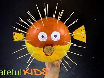 How To Make a Puffer Fish Pumpkin -- Halloween Pumpkin Ideas