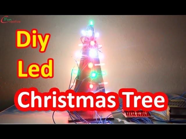 How to make Christmas tree |  Diy Led Christmas tree