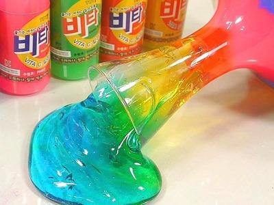 How To Make Colors Rainbow Slime Surprise Toys Kit DIY | Rain Rain Go Away, Wheels On The Bus, BINGO