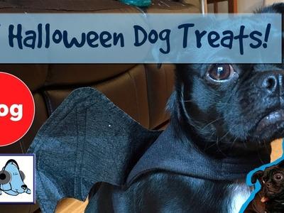 How to Make Halloween Treats for Dogs! DIY Halloween Pumpkin Dog Treats!