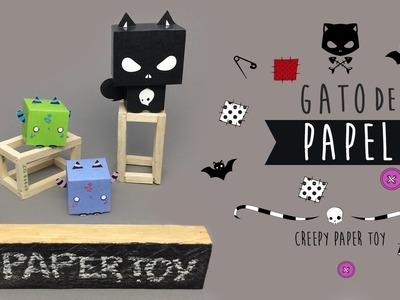 ¡HAZ UN GATO CON PAPEL! ✄ Creepy paper toy