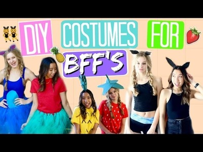 LAST MINUTE DIY HALLOWEEN COSTUMES FOR BEST FRIENDS 2016! Halloween Costumes for Teens! Emily Dao