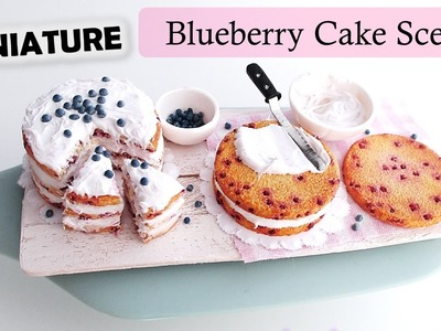 Miniature Polymer Clay Blueberry Cake Scene Tutorial. Maive Ferrando