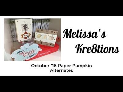 October 16 Paper Pumpkin Alternates - Season of Gratitude - Stampin' Up! - Melissa's Kre8tions