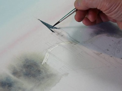Online art lessons   How to draw watercolor landscape   Artacademia