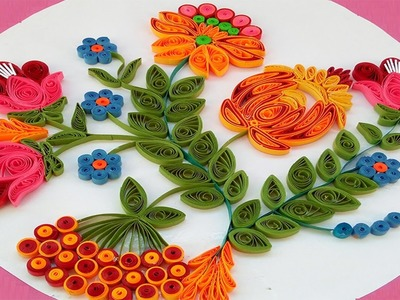 Paper Quilling | Latest flower design for wall decorations