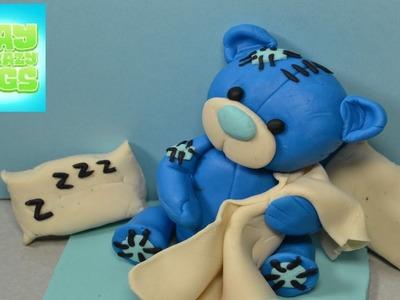 Playdough Tutorial How to make a playdoh blue Teddy bear Rainbow Toy Review diy funny juguetes 장난감