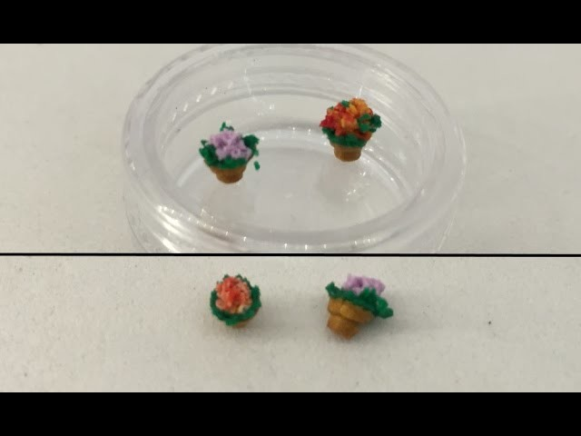 Polymer Clay 1 to 144 - Flower Pots With Flowers