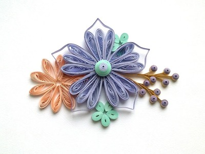 Quilling Tutorial: Quilling Flowers making .Creative Paper.
