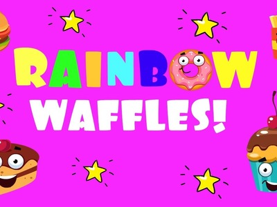 RAINBOW WAFFLE recipe! Food recipes for kids & Easy recipes for dessert & Healthy recipes of snacks