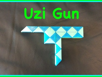 Rubik's Twist or Smiggle Snake Puzzle Tutorial: How to make an Uzi Gun Step by Step Slow
