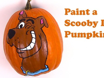 Scooby Doo Painted Pumpkin  +  How to Face Paint Scooby Doo  +  Painted Pumpkin Faces