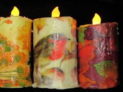 Turn Toilet paper Rolls into Autumn Faux Candles