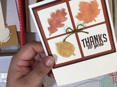 UnBoxing & Alternate Card Idea #1: October 2016 Paper Pumpkin Kit Season of Gratitude